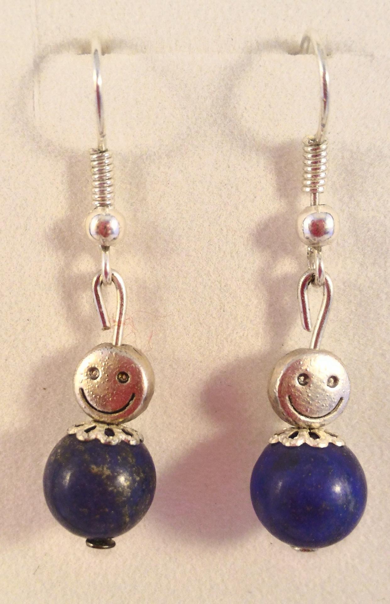 Boucles lapis lazuli 2