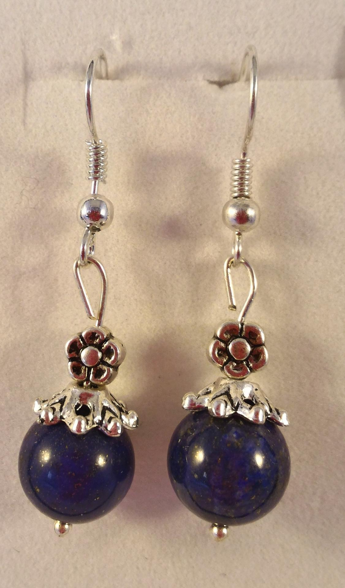 Boucles lapis lazuli 9