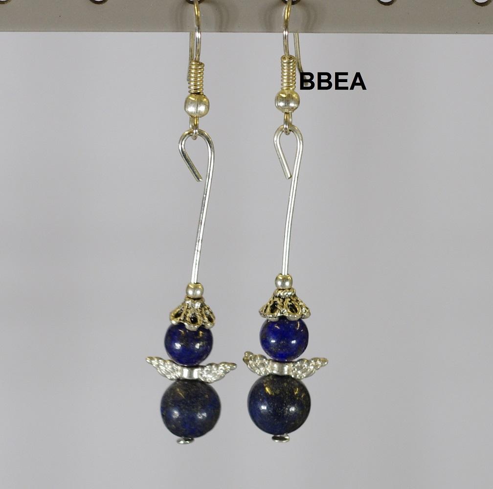 Boucles lapis lazuli