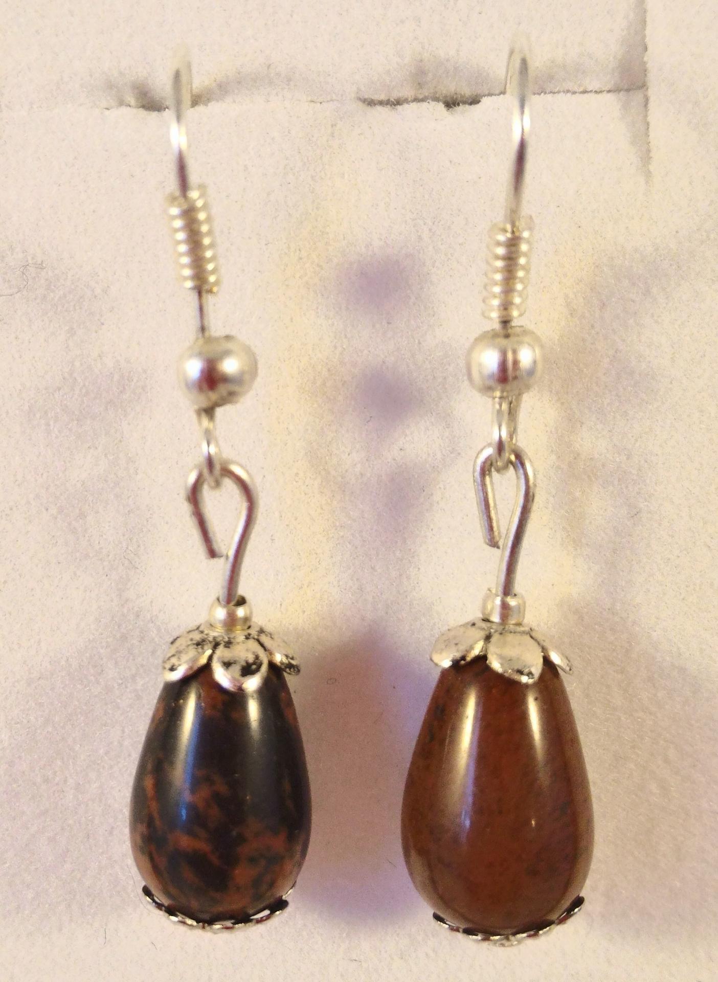 Boucles obsidienne marron 1
