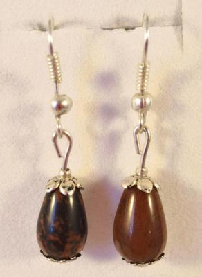 Boucles obsidienne marron 1