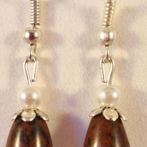 Boucles obsidienne marron 2
