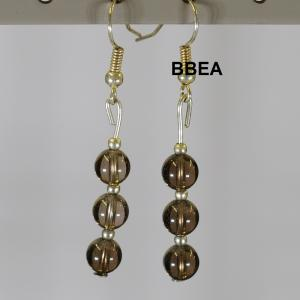 Boucles quartz fume 1 1