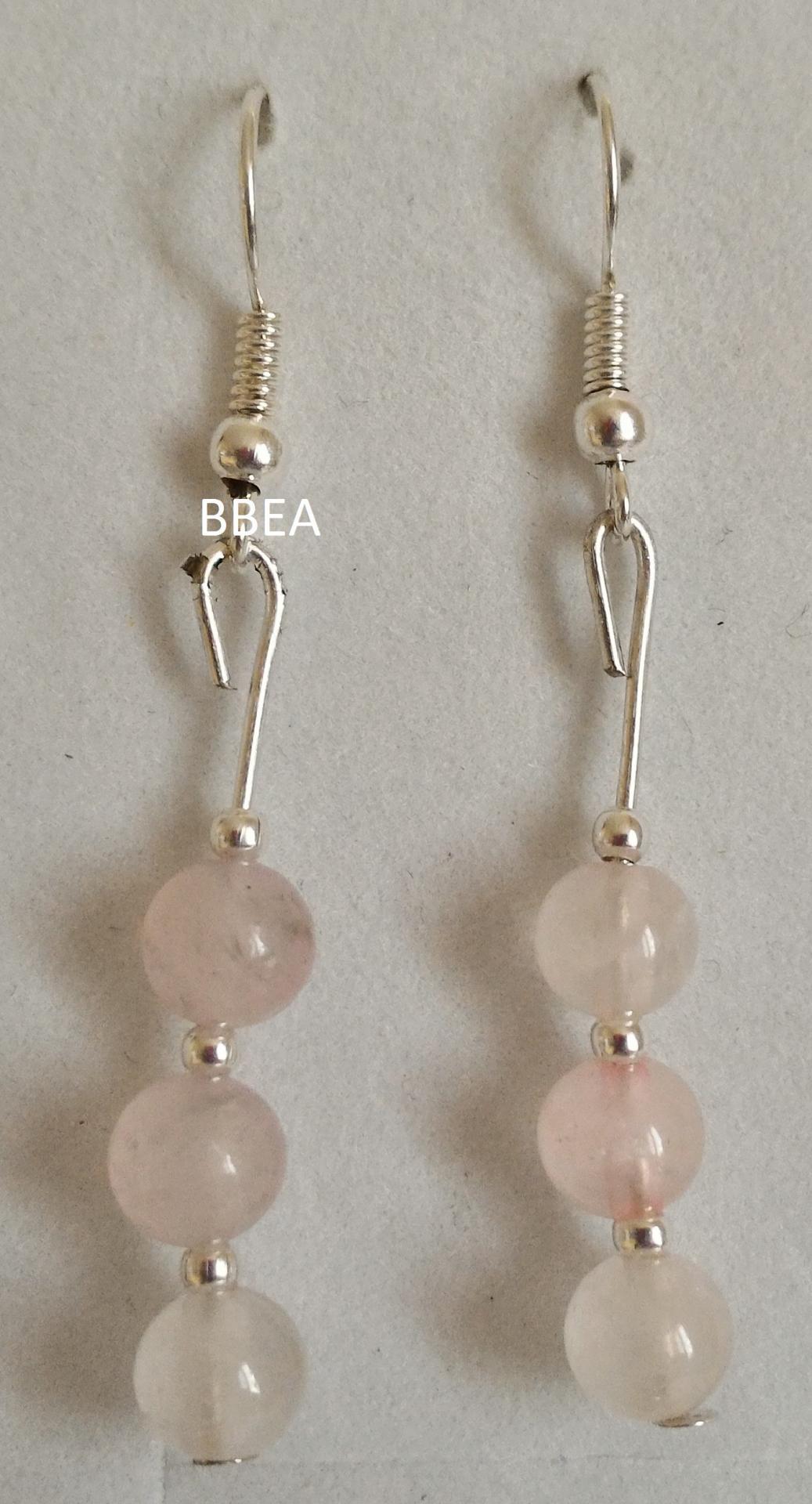 Boucles quartz rose 2