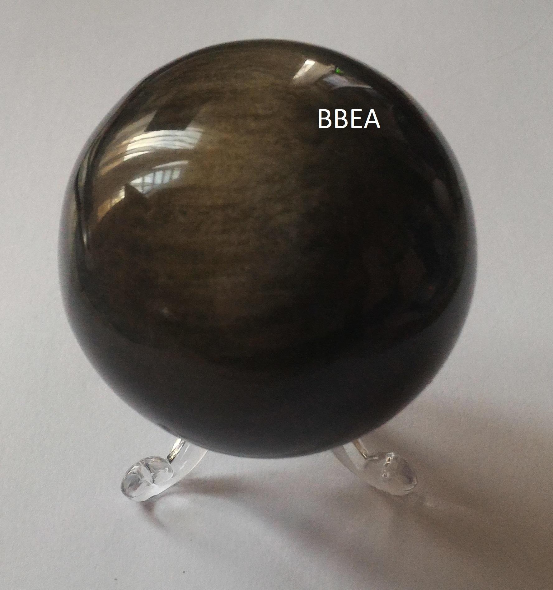 Boule obsidienne doree 6 cm 231g 2