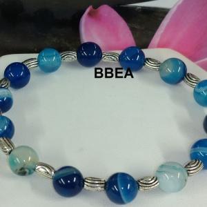 Bracelet agate bleue 1
