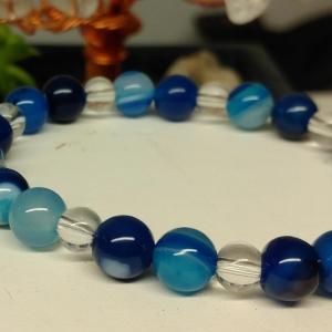 Bracelet agate bleue