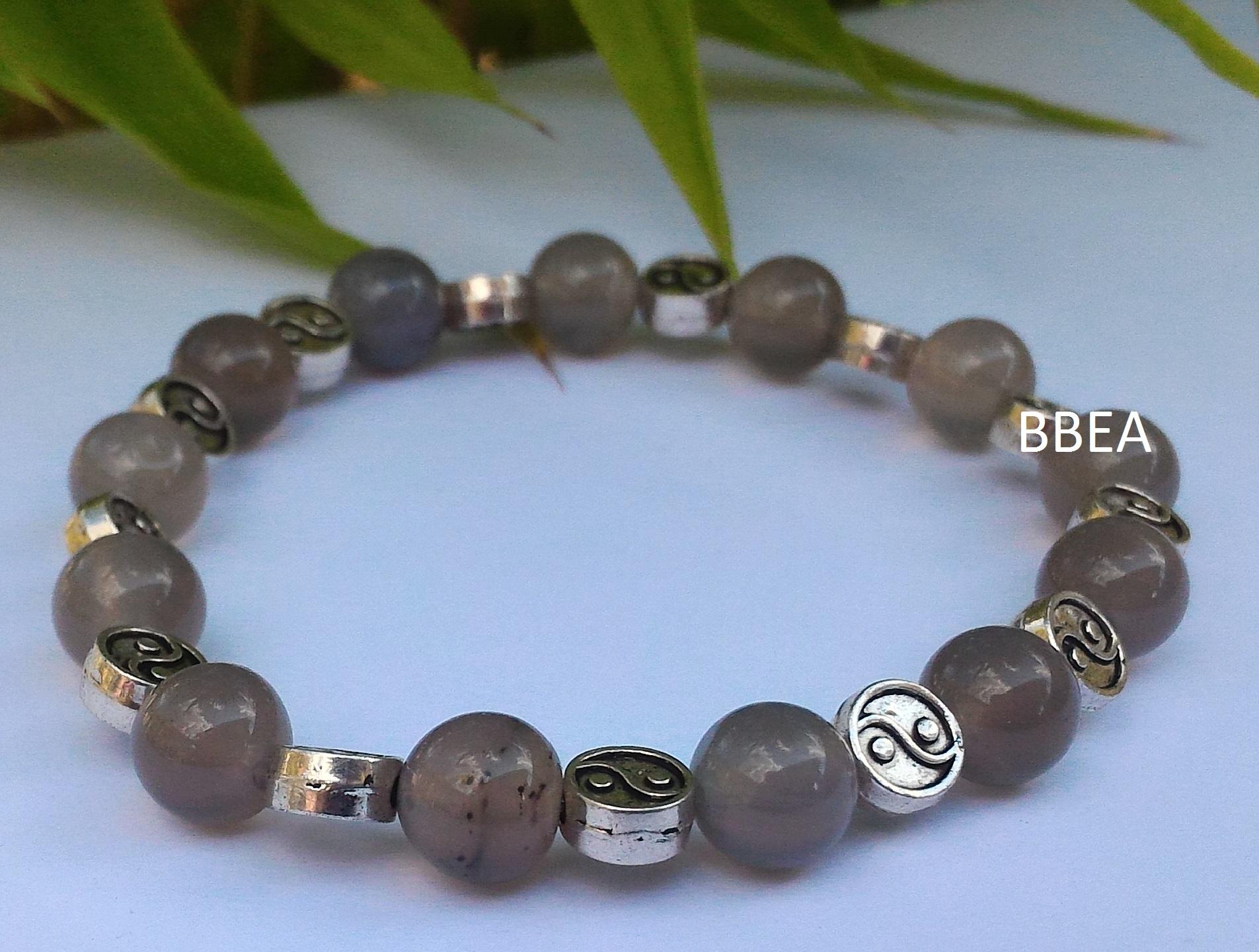Bracelet agate grise 1