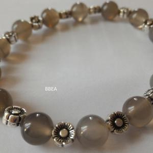 Bracelet agate grise