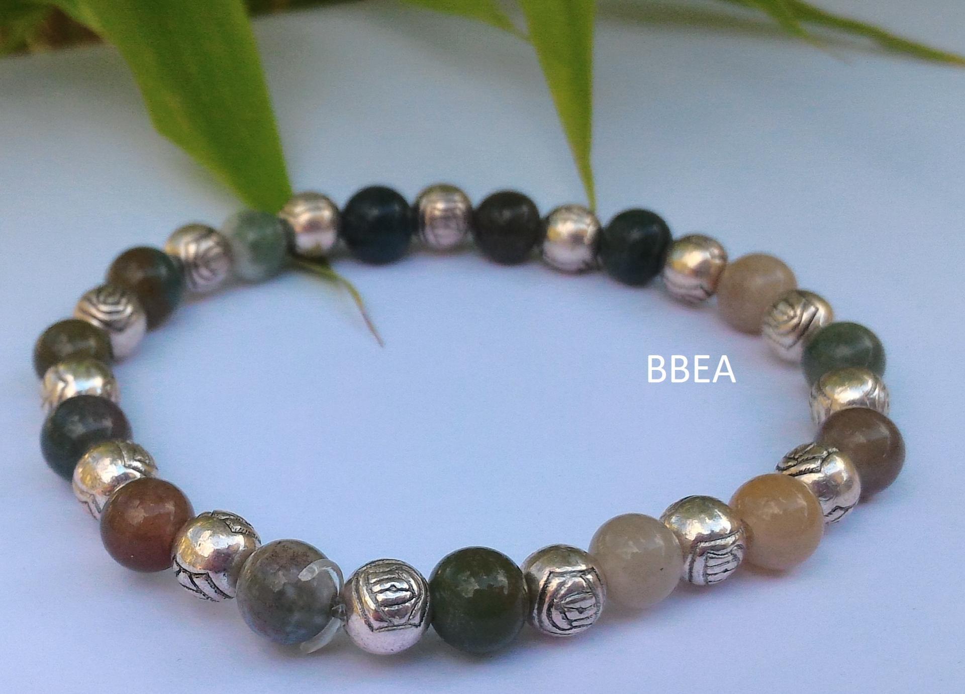 Bracelet agate indienne 1