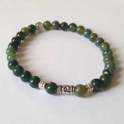 Bracelet agate mousse 1 1