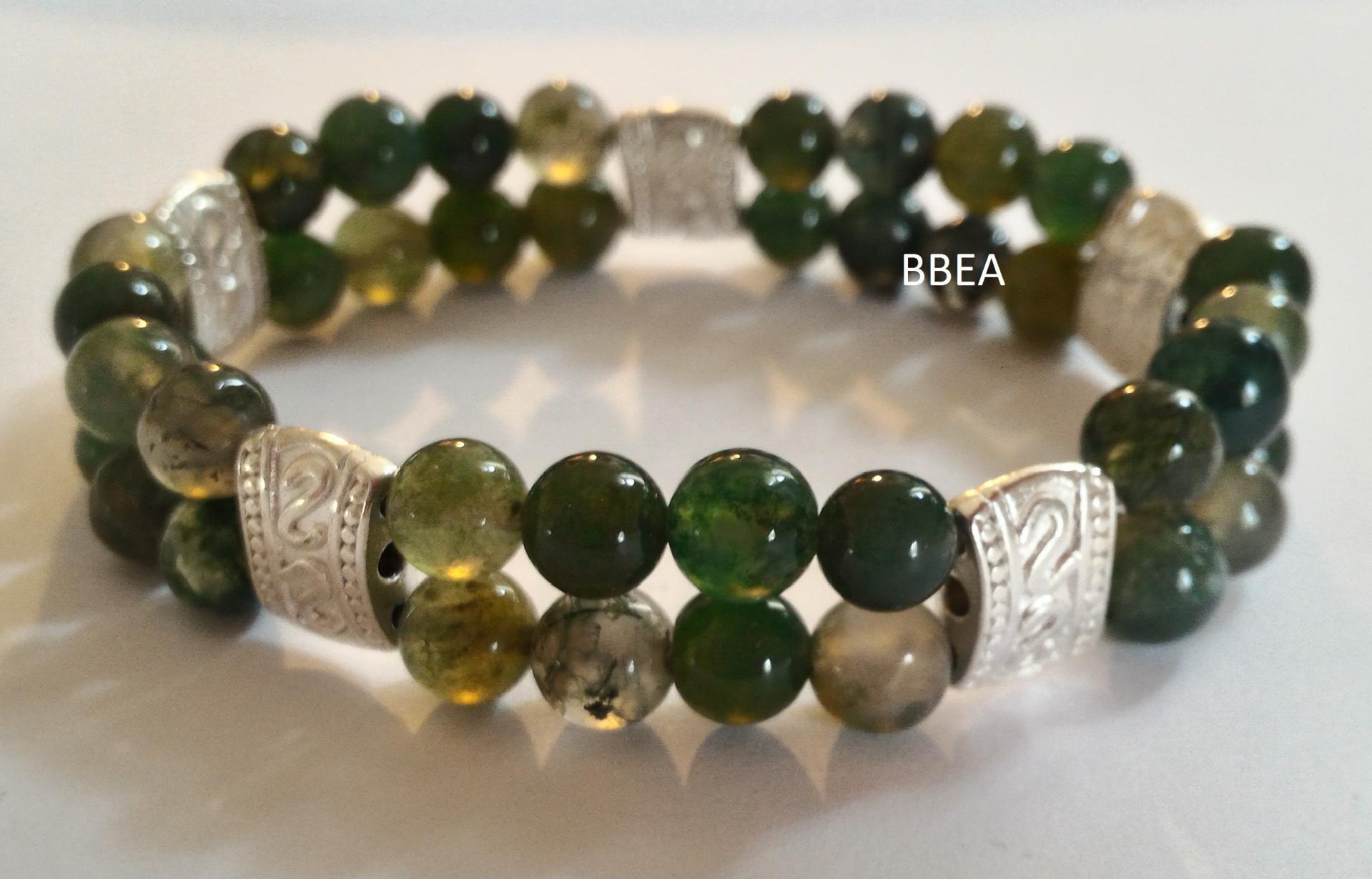 Bracelet agate mousse 1