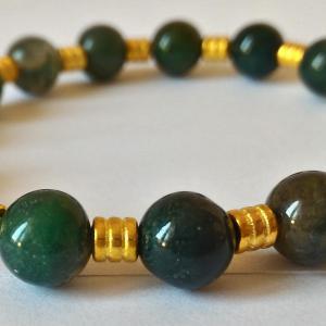 Bracelet agate mousse 10