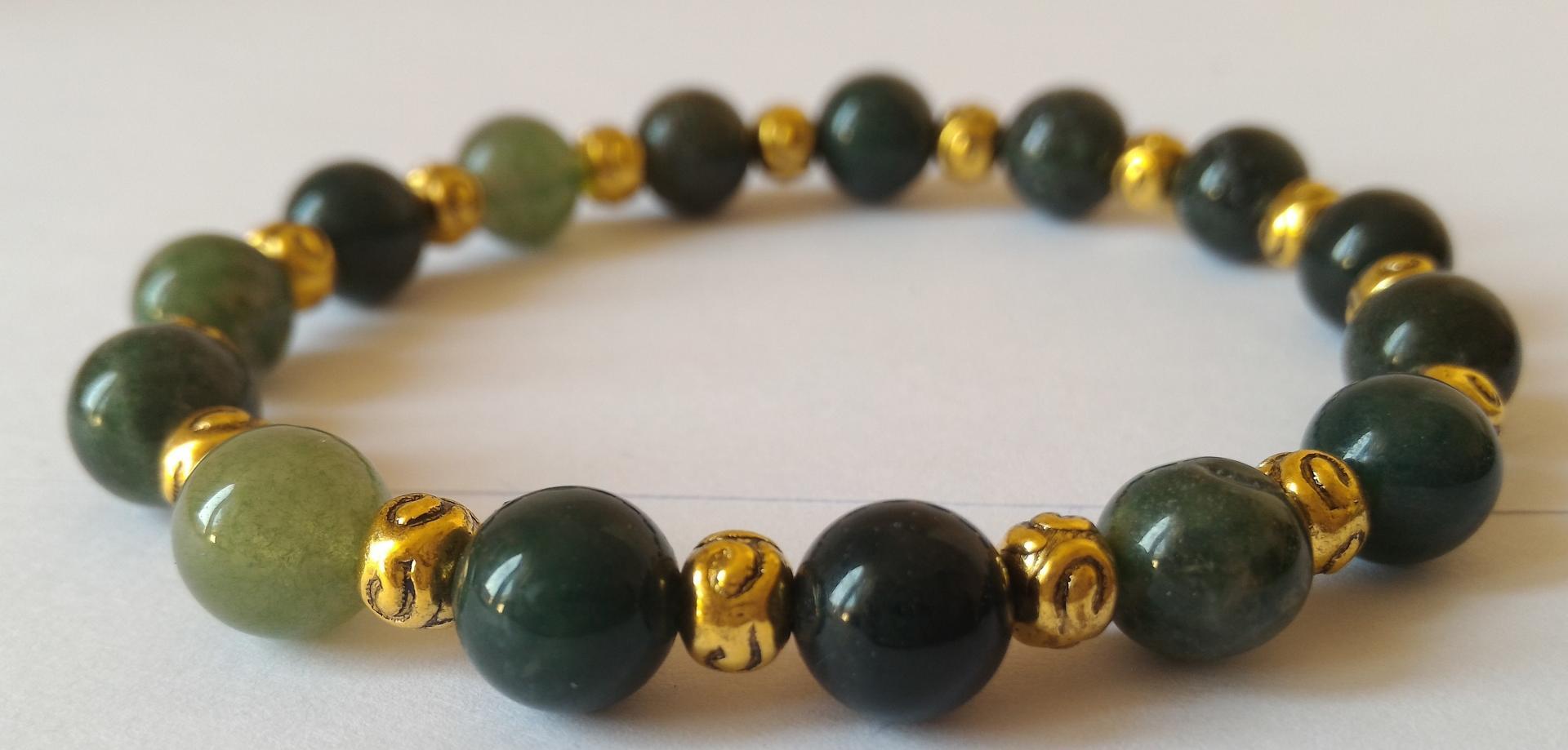 Bracelet agate mousse 13