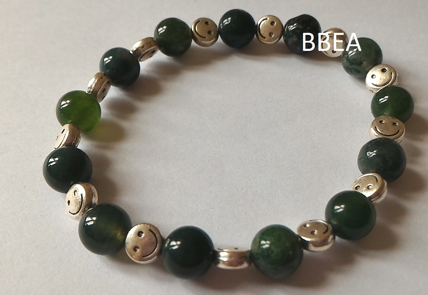 Bracelet agate mousse 2 1