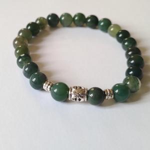 Bracelet agate mousse 2 2