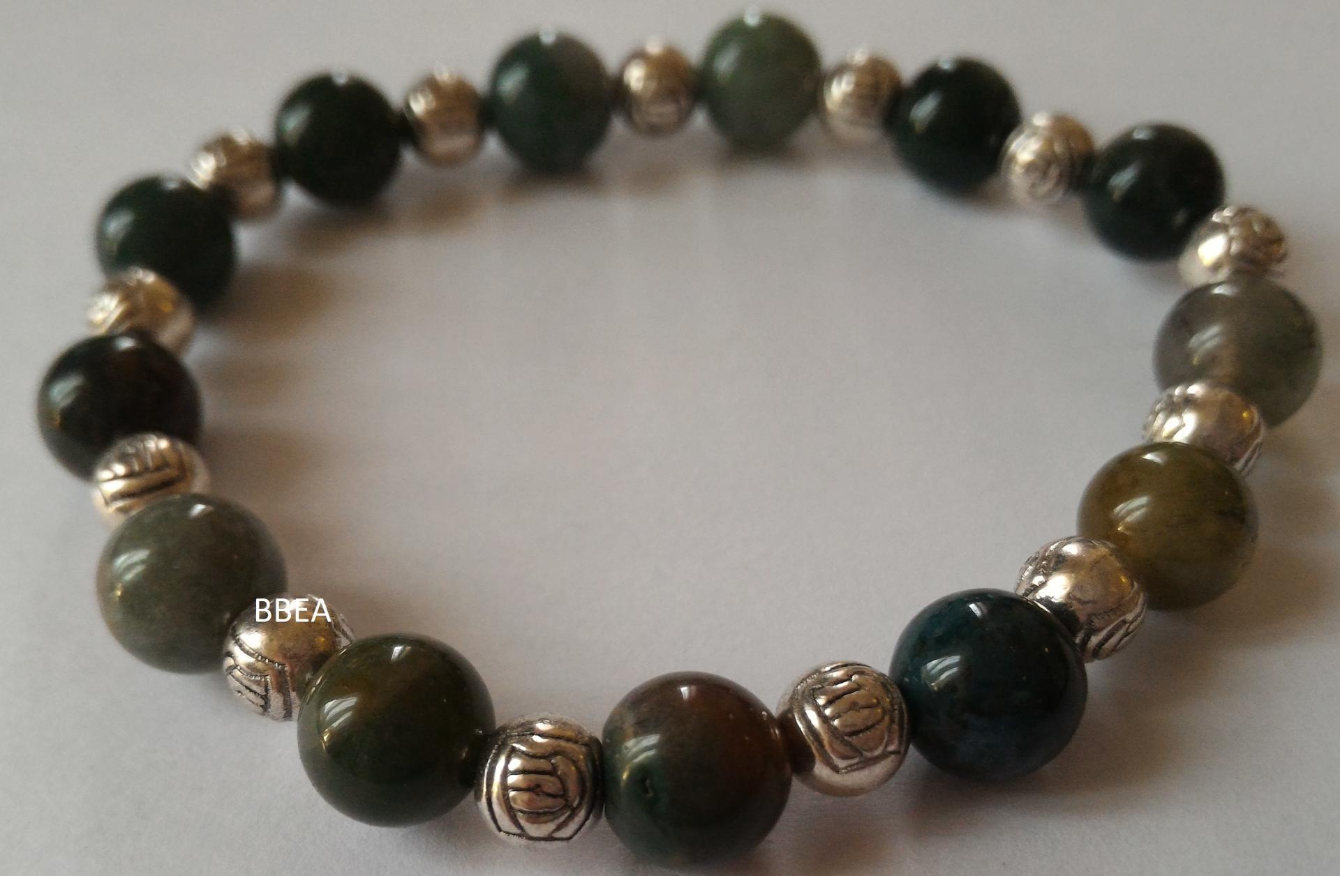 Bracelet agate mousse 3