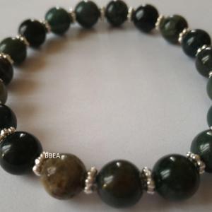 Bracelet agate mousse 4