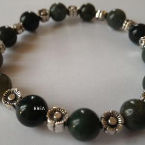 Bracelet agate mousse 6