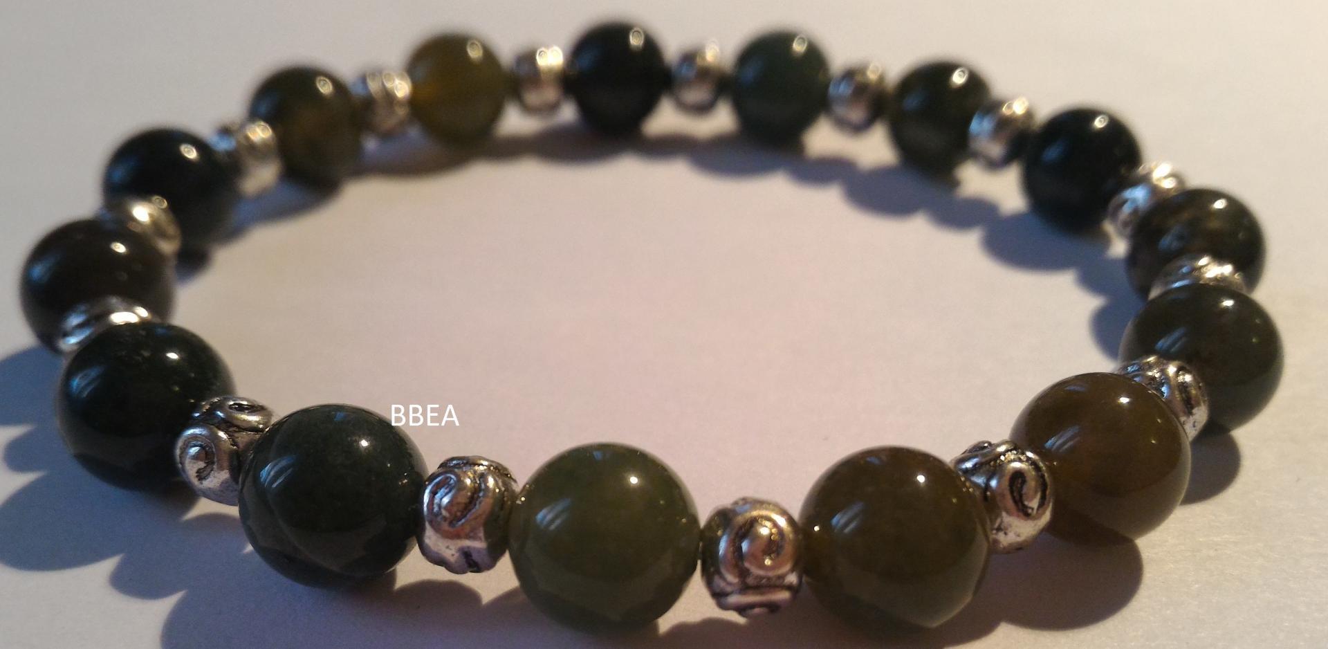 Bracelet agate mousse 7