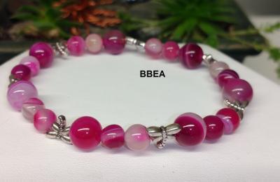 Bracelet agate rose 1
