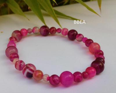Bracelet agate rose