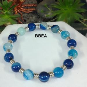 Bracelet agate teintee bleue 1