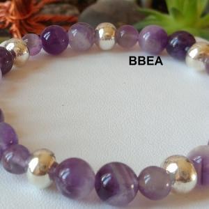 Bracelet amethyste 8