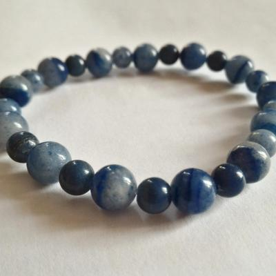 Bracelet aventurine bleue 1