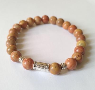 Bracelet bois fossilise homme