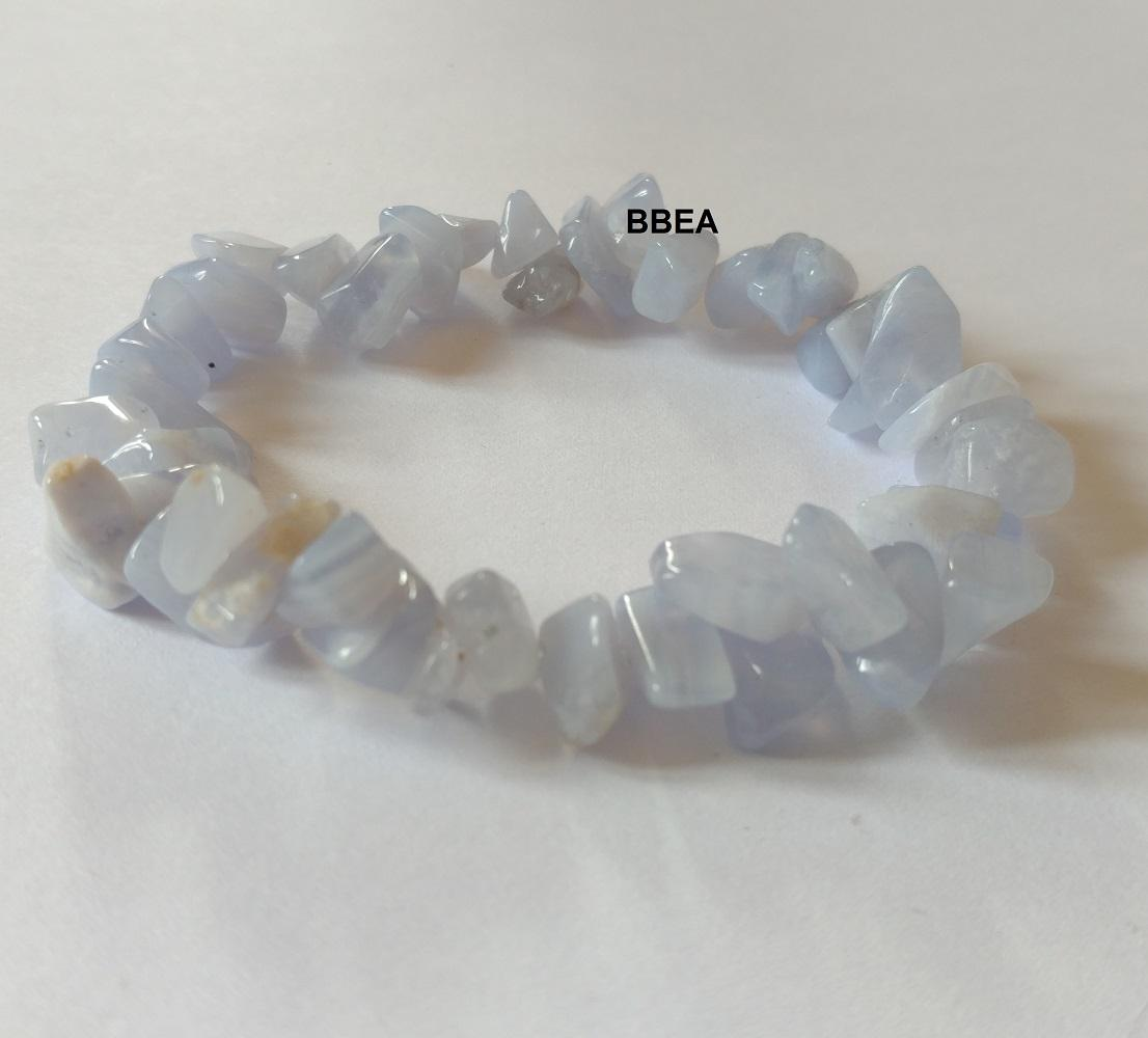 Bracelet calcedoine bleue chips 2