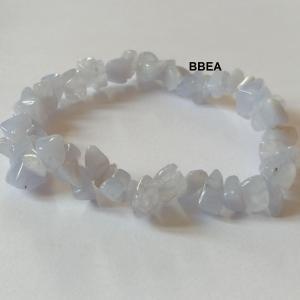 Bracelet calcedoine bleue chips 3