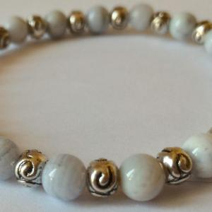Bracelet calcedoine bleue