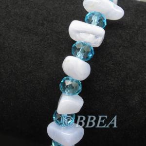 Bracelet chips calcedoine bleue 3237