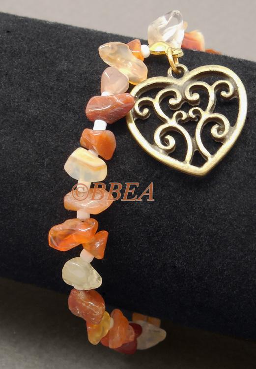 Bracelet chips cornaline3265
