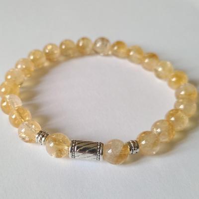 Bracelet citrine homme