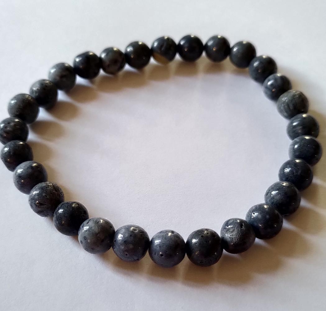 Bracelet corail bleu 3