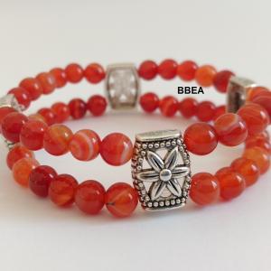 Bracelet cornaline double 4
