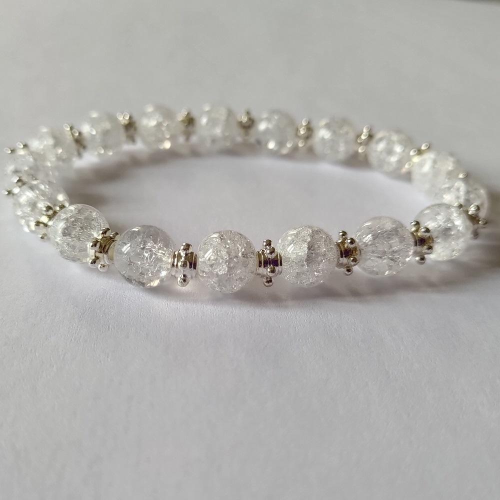 Bracelet cristal de roche eclate