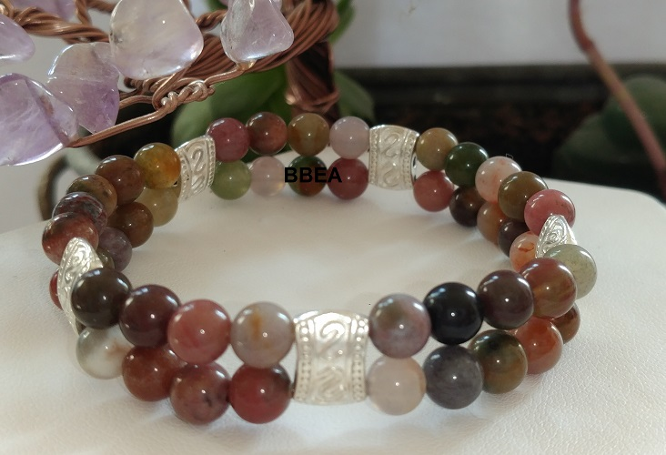 Bracelet double agate indienne