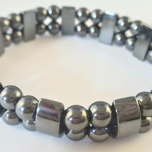 Bracelet double hematite 1