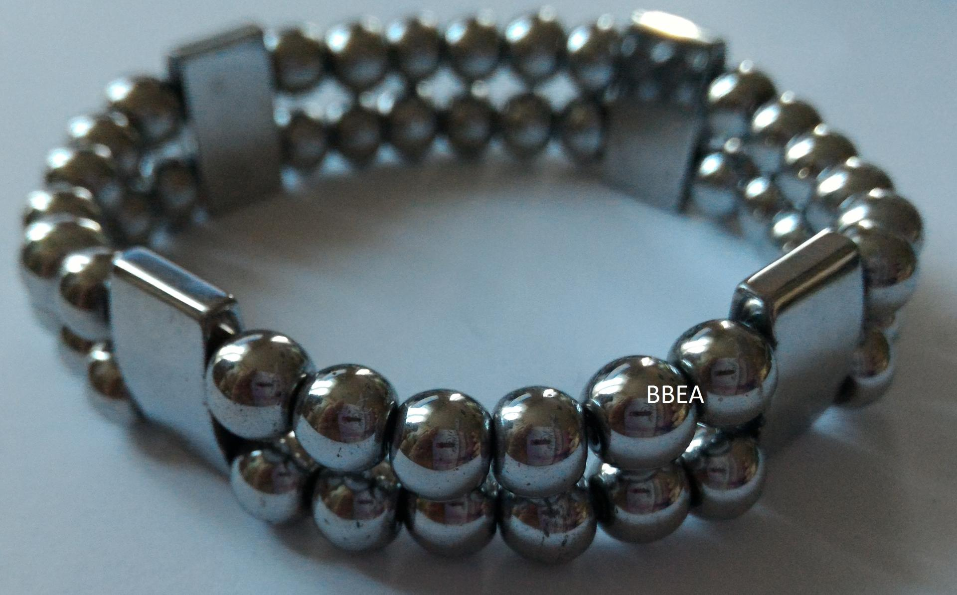Bracelet double hematite 15