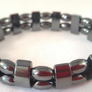 Bracelet double hematite 2