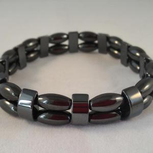 Bracelet double hematite 3