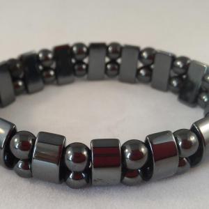 Bracelet double hematite 4