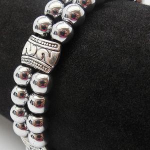 Bracelet double hematite 5