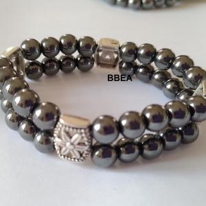 Bracelet double hematite