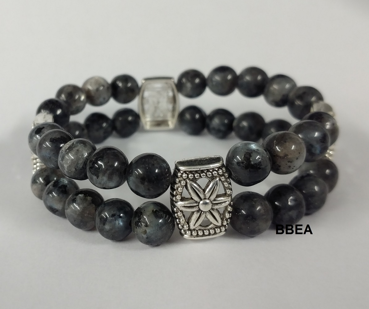Bracelet double labradorite 1