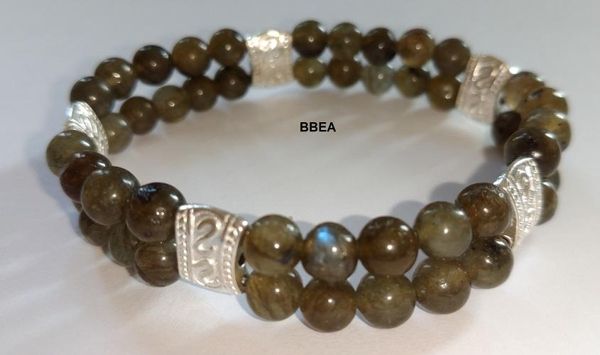 Bracelet double labradorite