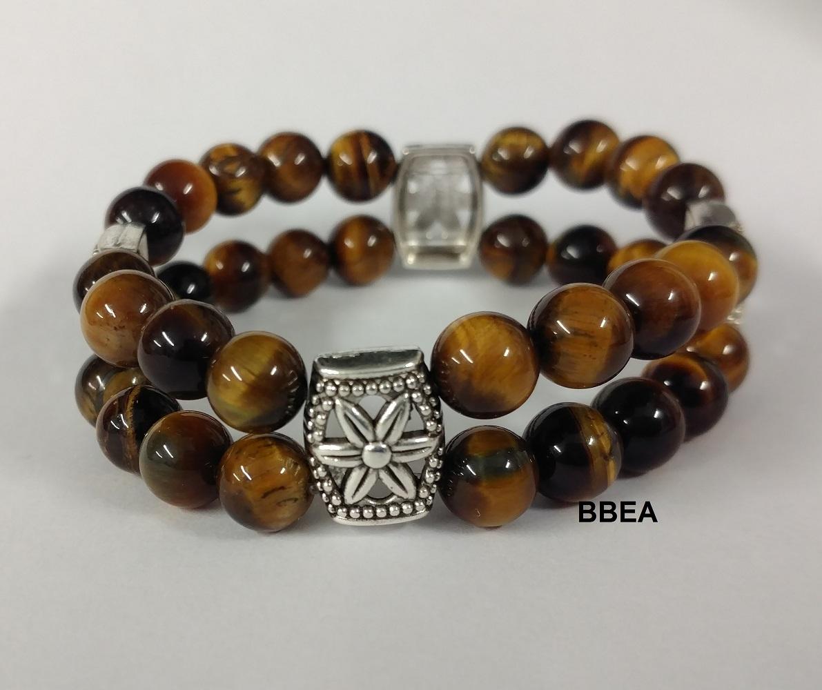 Bracelet double oeil de tigre 1